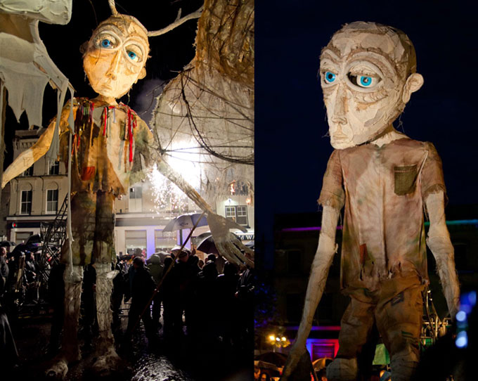 The Berkshire Giant,18ft high puppet made for project with Macnas and Newbury Corn exchange, June 2012