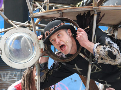 Photo of Bone, lead performer in Boneyard Tales