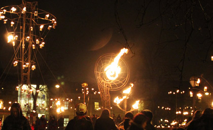 Photo of Horns of Fire installation