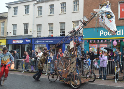 The Bone Yard Beast loose on the streets of Taunton!