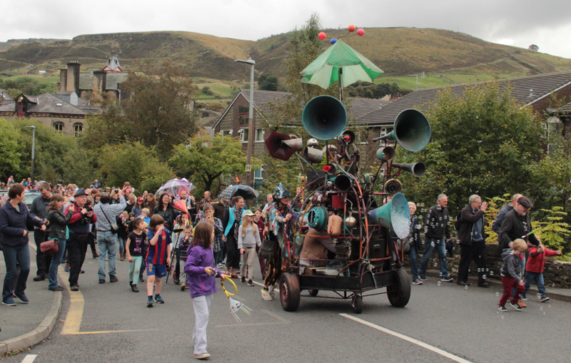 The Hurly Burly in the Pennine Landscape, Marsden Jazz Festival Parade 2016