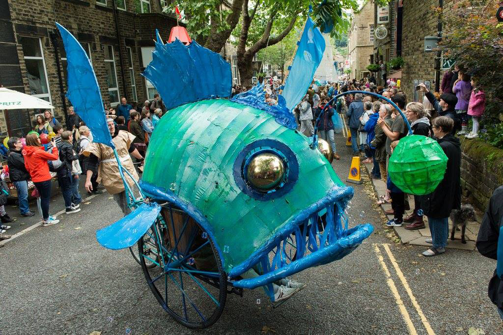 Davy Jones at Handmade Parade in Hebden Bridge 2017. Photo copyright Handmade Parade/Darren Fleming